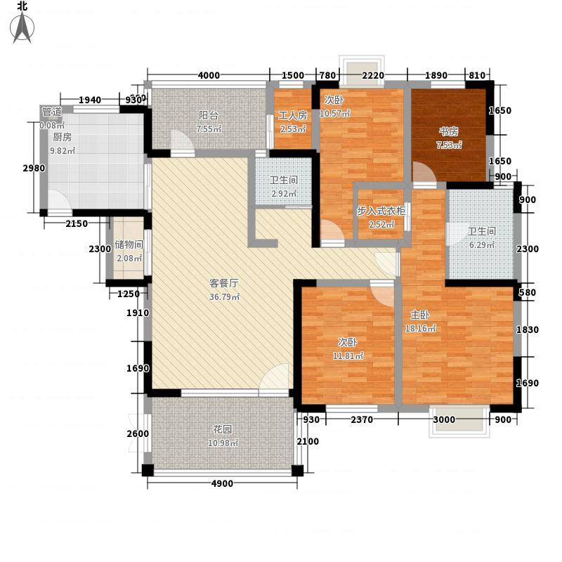 东山国际新城170.31㎡冠邸B2户型7-16层户型4室2厅2卫2厨