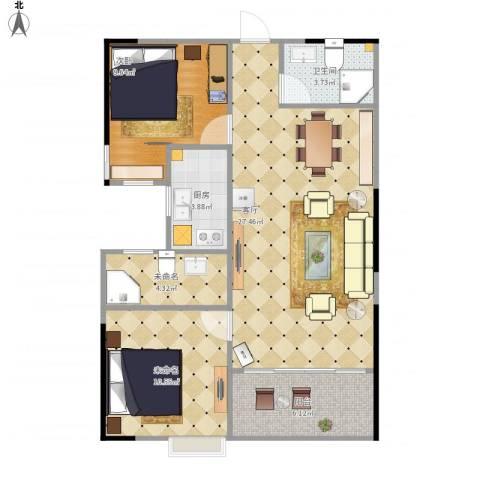祥和半山墅1室1厅1卫1厨89.00㎡户型图
