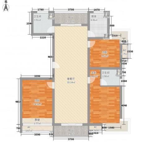 和源祥邸珑庭3室1厅2卫1厨139.00㎡户型图