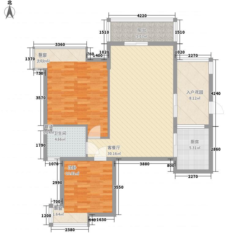 五指山水林溪1栋-A2-a户型2室1厅1卫1厨