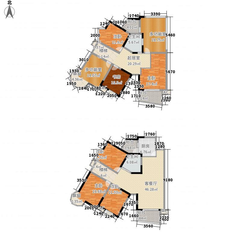 龙门镇226.00㎡1、2号楼瞰河奢居顶跃户型5室2厅2卫1厨