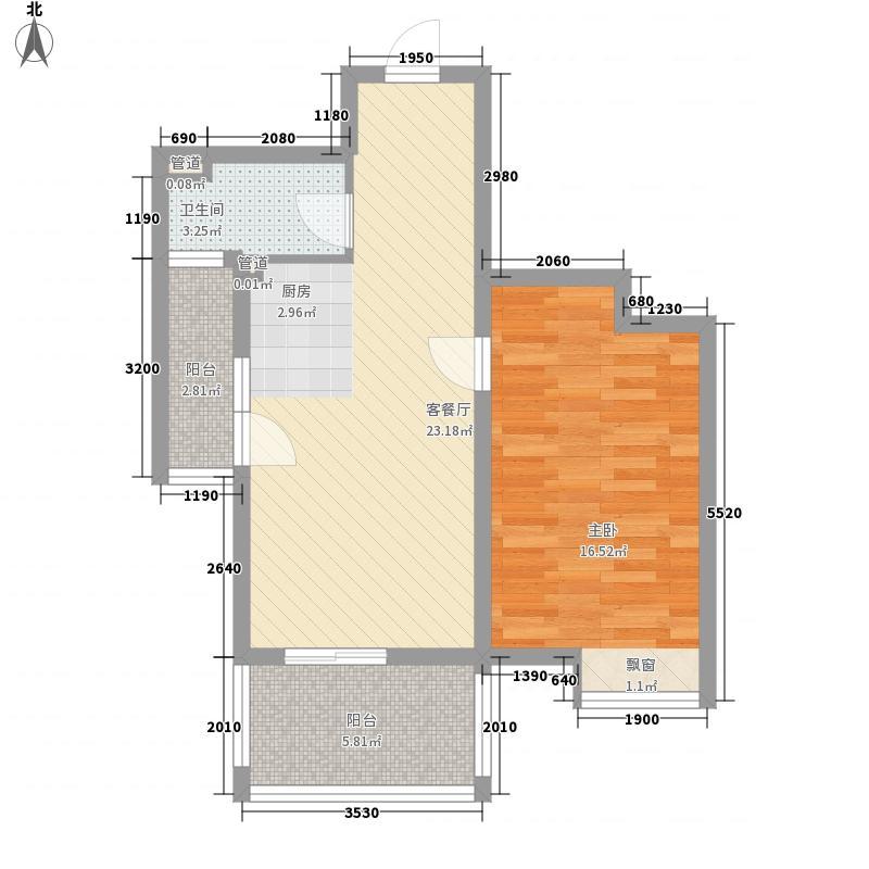 五指山水林溪2栋A3-d户型1室1厅1卫1厨