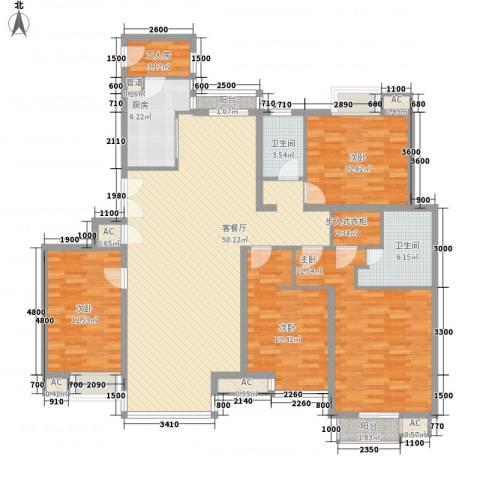 东润枫景4室1厅2卫1厨196.00㎡户型图