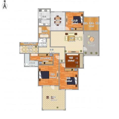 山海华府4室2厅2卫1厨243.00㎡户型图