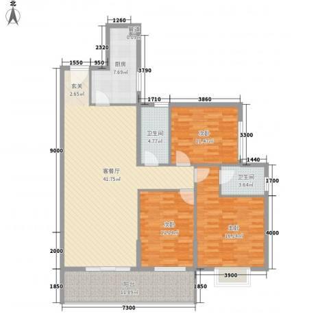 兰蒂斯城3室1厅2卫1厨148.00㎡户型图