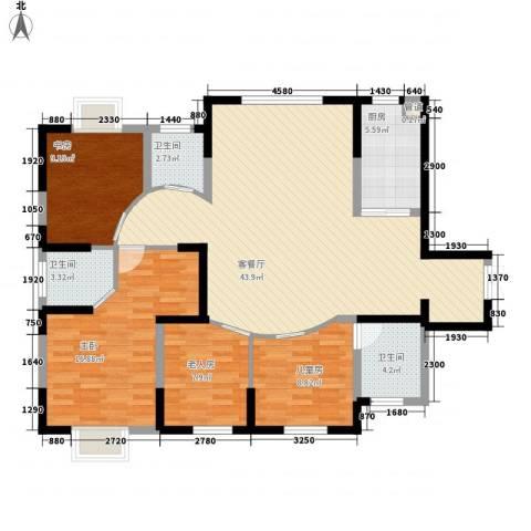 森林别墅4室1厅3卫1厨145.00㎡户型图