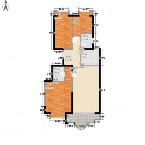新天地鹭港3室1厅2卫1厨139.00㎡户型图