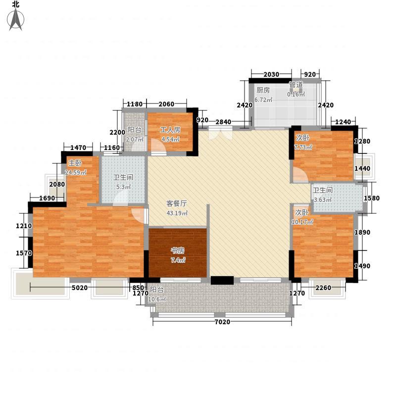 广州富力城176.99㎡广州富力城户型图G1栋301、306单元5室2厅2卫1厨户型5室2厅2卫1厨