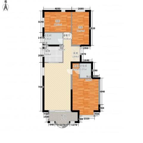 新天地鹭港3室1厅2卫1厨141.00㎡户型图