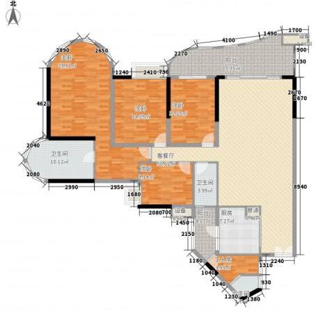 珠江帝景苑4室1厅3卫1厨204.00㎡户型图