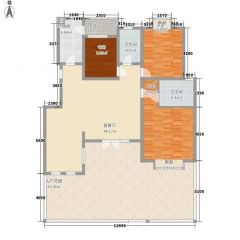 天正银河湾3室1厅2卫1厨180.77㎡户型图