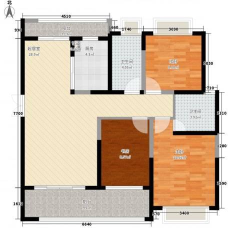 海景城3室0厅2卫1厨119.00㎡户型图