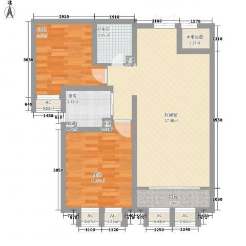 天鹅湖小镇东区2室0厅1卫1厨122.00㎡户型图