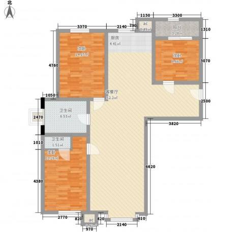 客车厂南B区3室1厅2卫0厨143.00㎡户型图