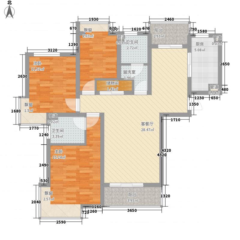 香樟雅苑124.00㎡户型3室