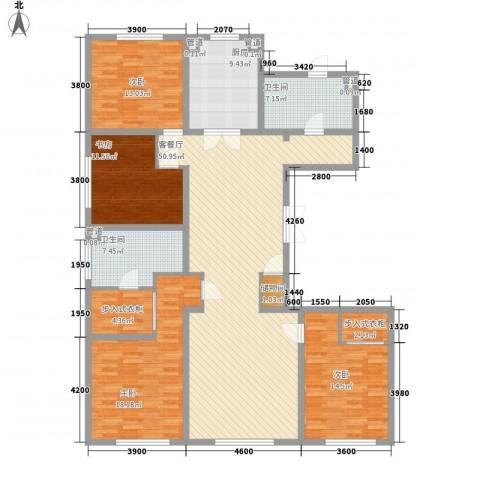 万科春河里4室1厅2卫1厨199.00㎡户型图