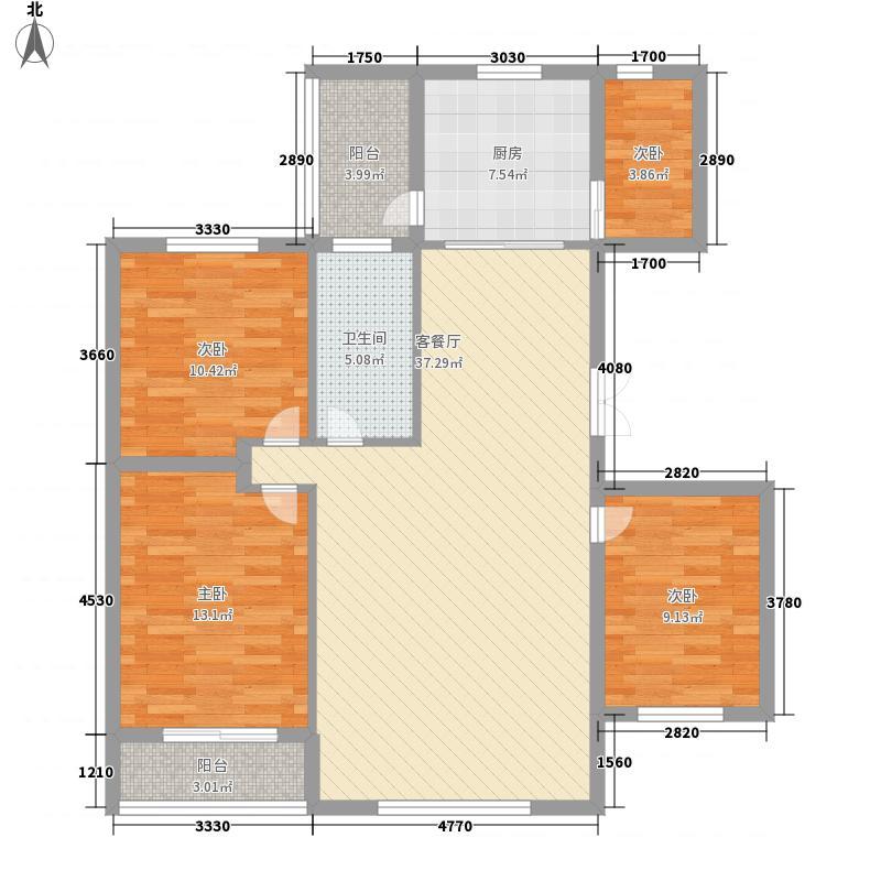 莱茵庄园132.00㎡户型4室2厅1卫1厨
