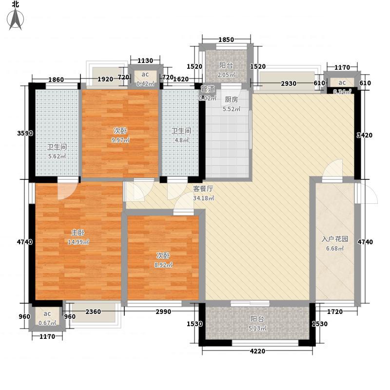 东海湾御文阁112.00㎡2#楼01/07户型3室2厅2卫1厨