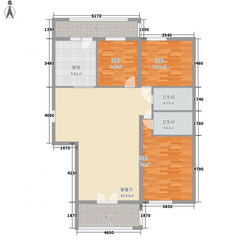 北岸七英里118.08㎡北岸七英里户型图E4户型5-18层3室1厅2卫1厨户型3室1厅2卫1厨