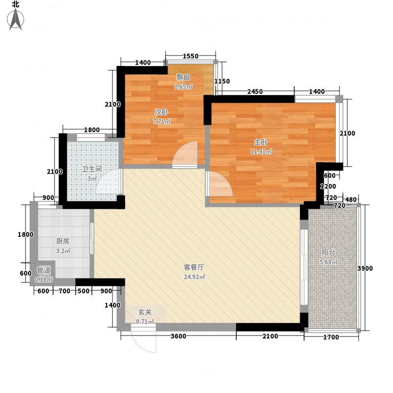 鹿港小镇72.00㎡鹿港小镇2室户型2室