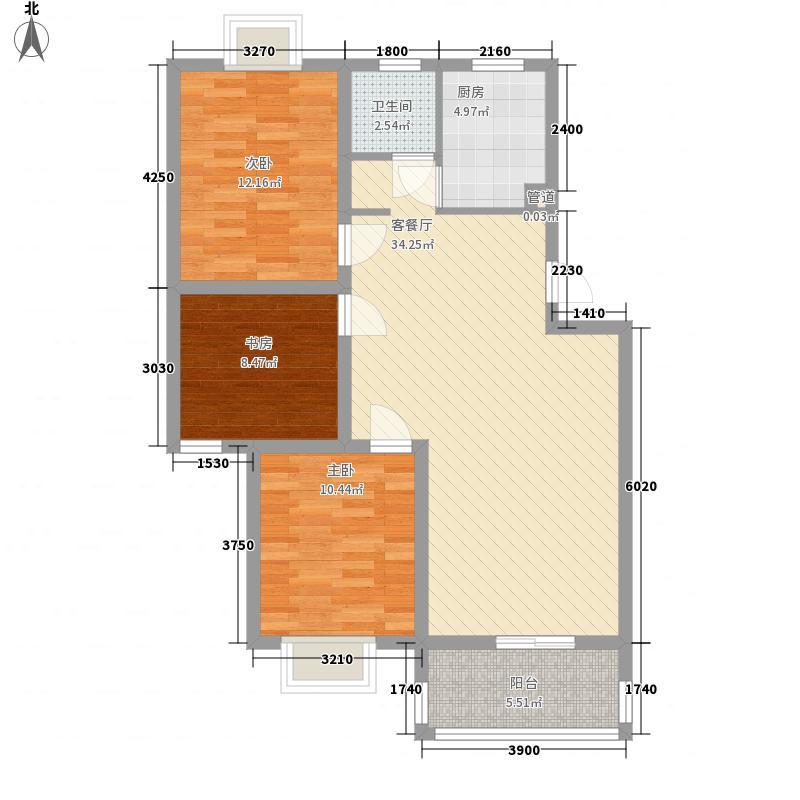 潇河湾104.17㎡潇河湾户型图户型C3室2厅1卫1厨户型3室2厅1卫1厨