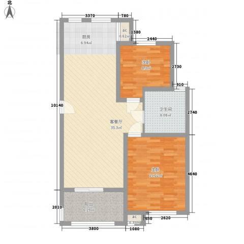 润和苑别墅2室1厅1卫0厨103.00㎡户型图