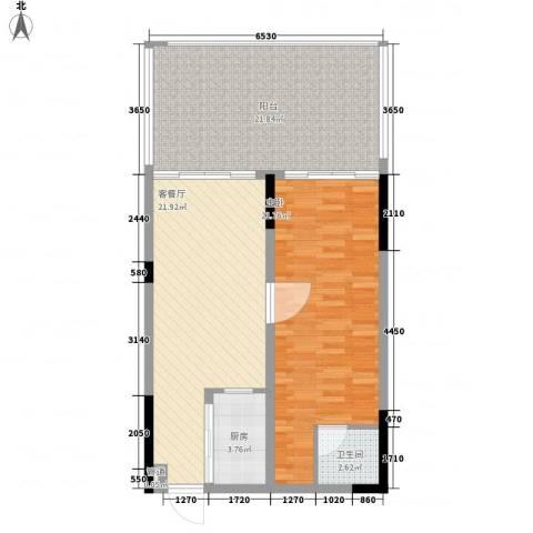 KPR佳兆业广场1室1厅1卫1厨102.00㎡户型图