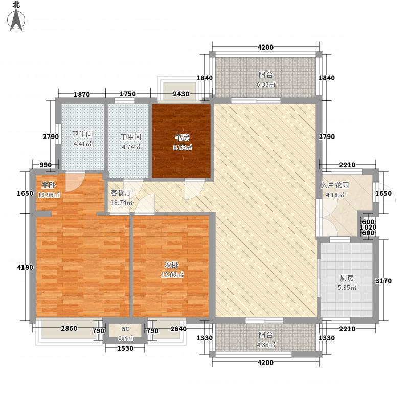 祥景花园110.00㎡祥景花园户型图南区02单位3室2厅2卫1厨户型3室2厅2卫1厨