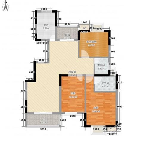 金色江南三期2室0厅2卫1厨132.00㎡户型图