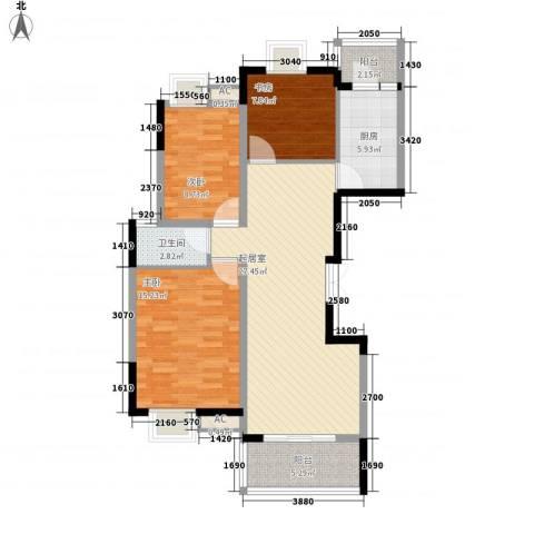 金色江南三期3室0厅1卫1厨110.00㎡户型图