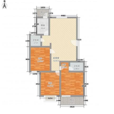 怡华园3室0厅2卫1厨126.00㎡户型图