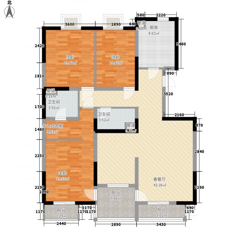 美利山163.11㎡C5号楼C1(c3)户型3室2厅2卫1厨