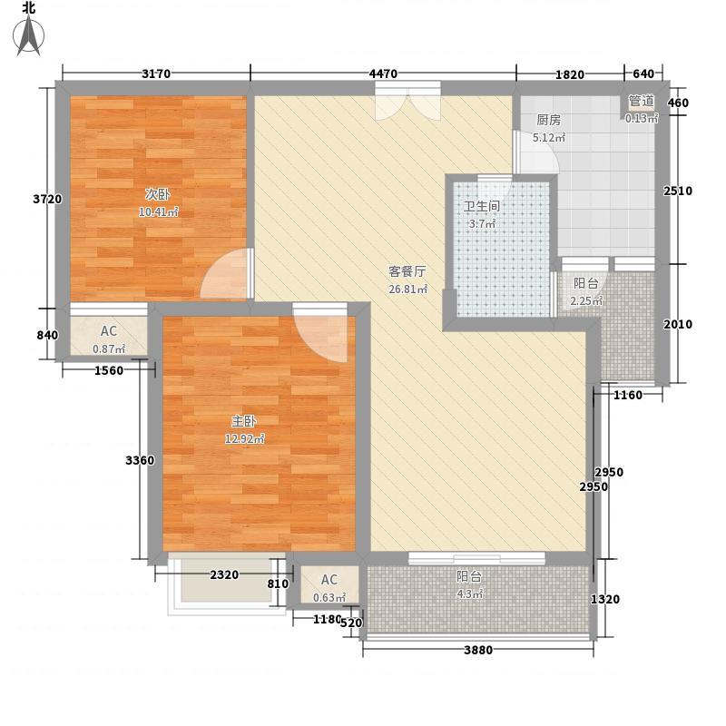 天鹅湖熙园93.00㎡天鹅湖熙园户型图93平方米两房(售完)2室2厅1卫户型2室2厅1卫