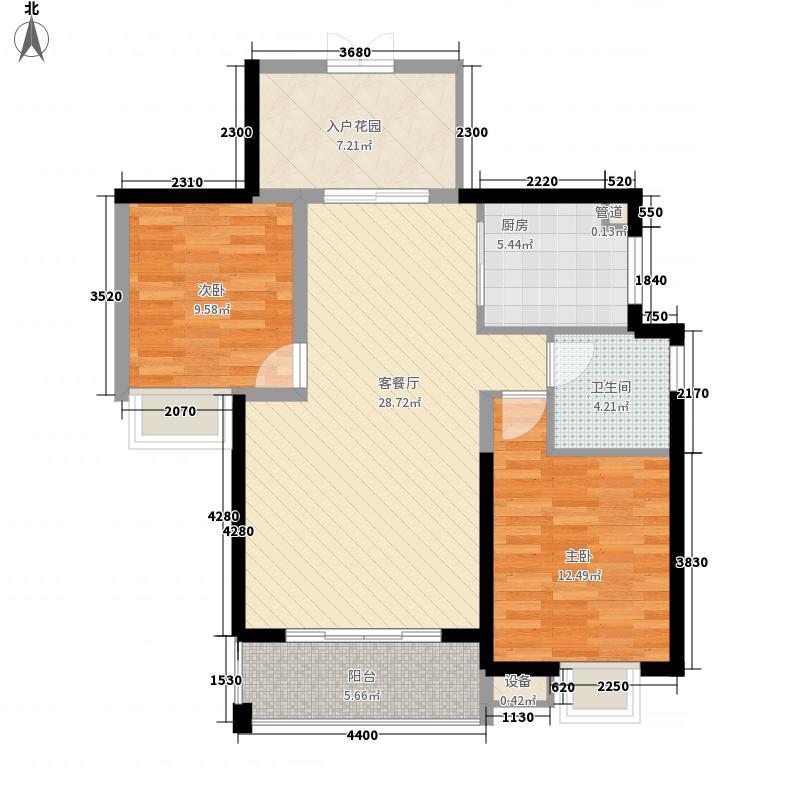 世纪城97.03㎡世纪城户型图Q区10#/11#楼3-33层B/C户型2室2厅1卫1厨户型2室2厅1卫1厨