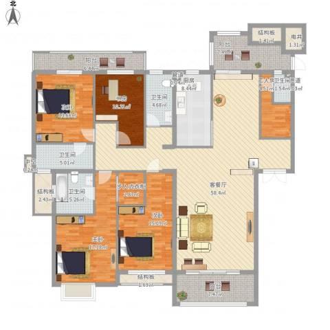半山御景4室1厅4卫1厨249.00㎡户型图