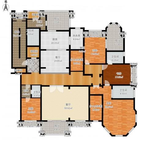 荣禾曲池东岸4室2厅4卫1厨502.00㎡户型图