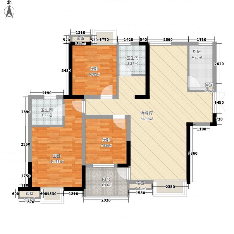 世纪城108.97㎡世纪城户型图龙耀苑V区15号楼3-25层C/D户型3室2厅2卫1厨户型3室2厅2卫1厨