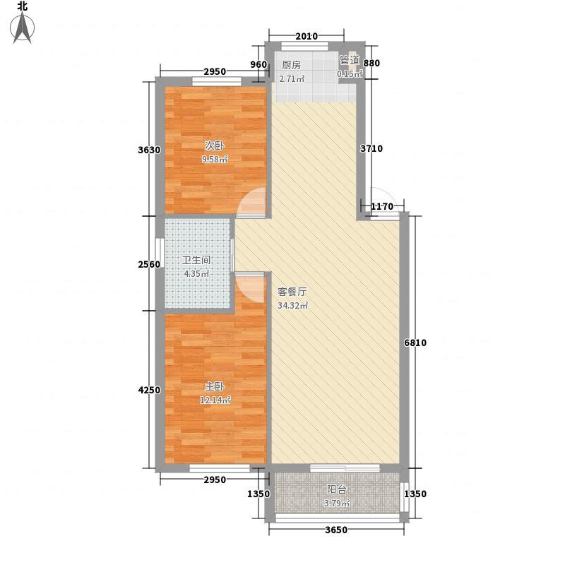 金湾又一城91.00㎡金湾又一城户型图C户型2室2厅1卫1厨户型2室2厅1卫1厨
