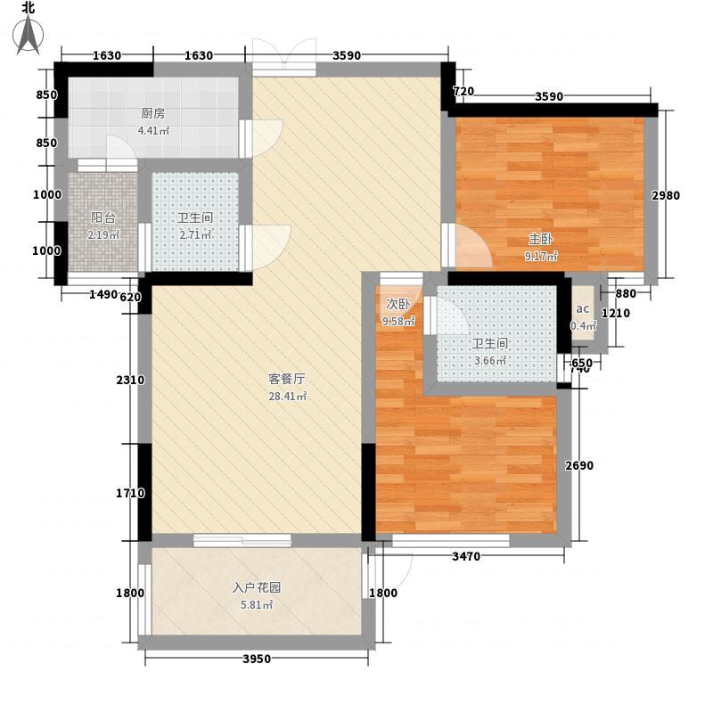海沁166.00㎡小区户型4室