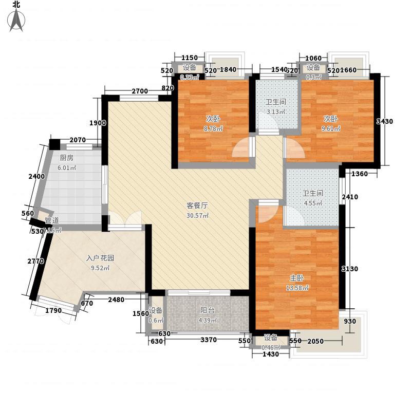 世纪城114.91㎡世纪城户型图V区12/24/26楼2-27层A/D户型3室2厅2卫1厨户型3室2厅2卫1厨