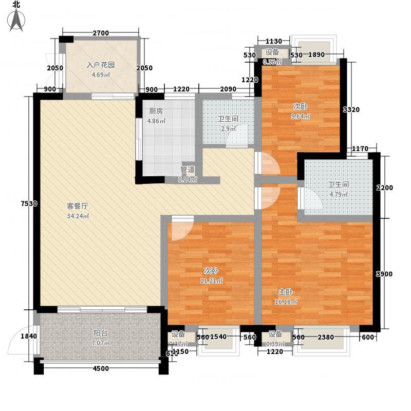 世纪城108.97㎡世纪城户型图V区11楼2-27层A/B/C/D户型3室2厅2卫1厨户型3室2厅2卫1厨