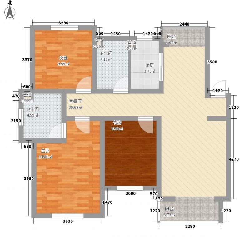 西堤国际122.54㎡西堤国际户型图C6户型图3室2厅2卫户型3室2厅2卫