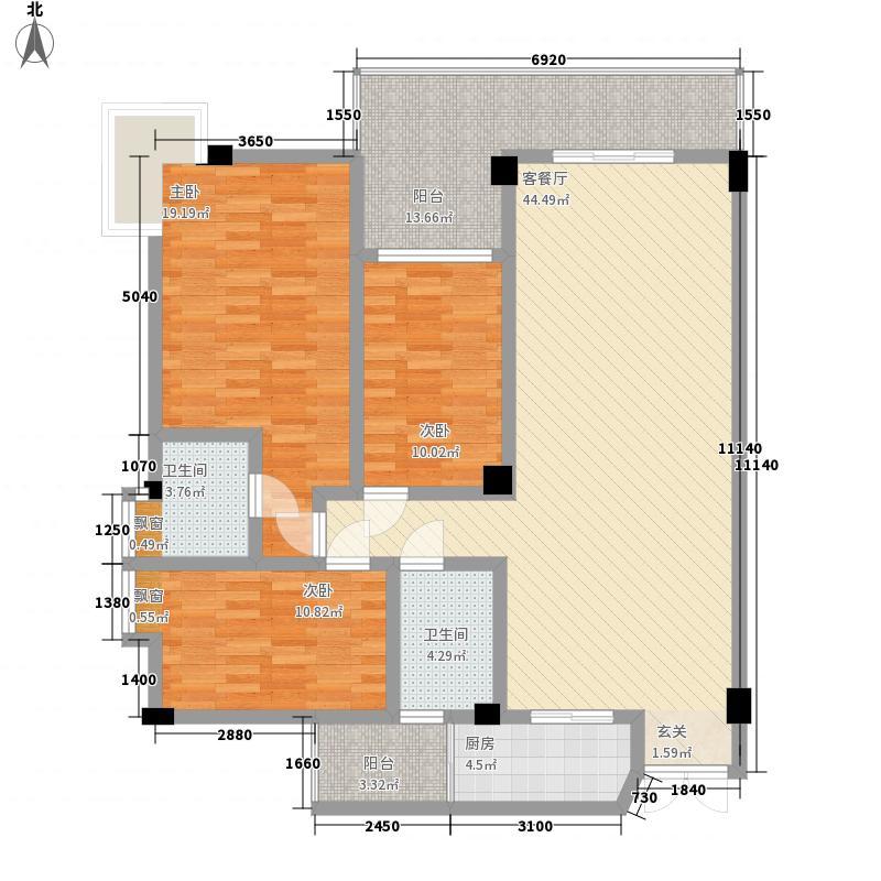 富德居富德居户型图126平方米3室2厅2卫户型3室2厅2卫