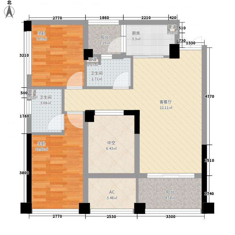 世欧上江城98.00㎡世欧上江城户型图02单元户型3室2厅2卫1厨户型3室2厅2卫1厨
