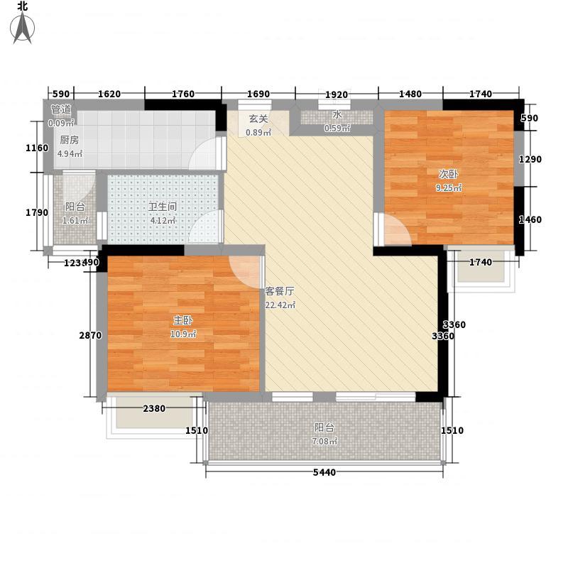 龙湾豪景88.30㎡项目C-4户型2室2厅1卫1厨