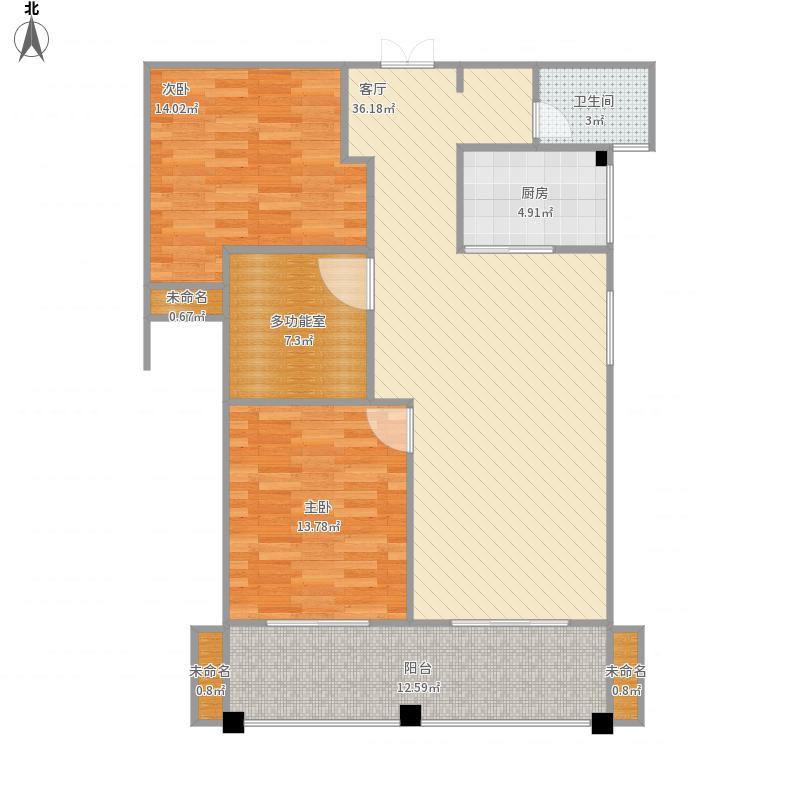 皇冠花园3室2厅1卫双阳台-炎志