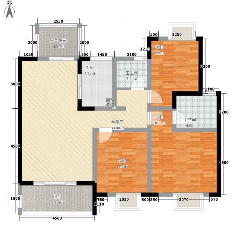 世纪城132.65㎡世纪城户型图龙耀苑V区23号楼2-22层A/B/C/D户型3室2厅2卫1厨户型3室2厅2卫1厨