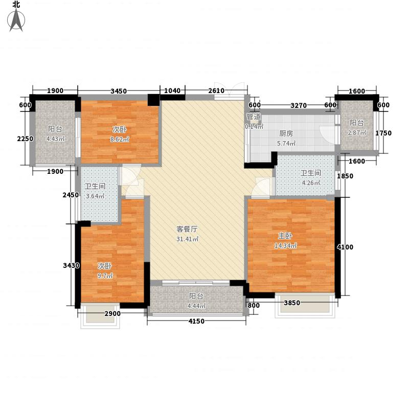 中惠�庭116.32㎡中惠�庭户型图15#标准层0506户型3室2厅2卫1厨户型3室2厅2卫1厨