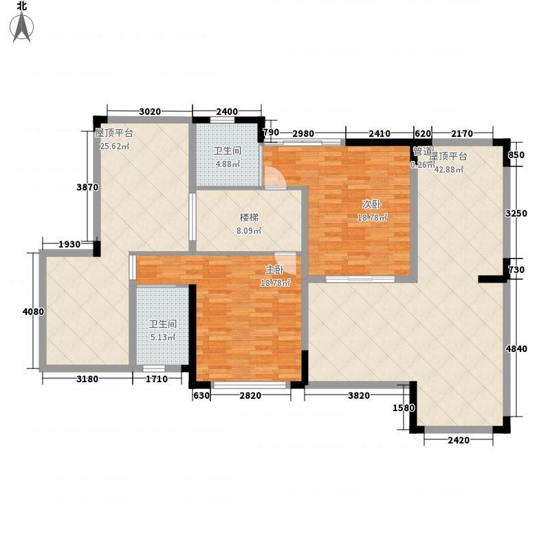 天泽湖畔174.17㎡天泽湖畔户型图N1复式上层4室2厅3卫户型4室2厅3卫