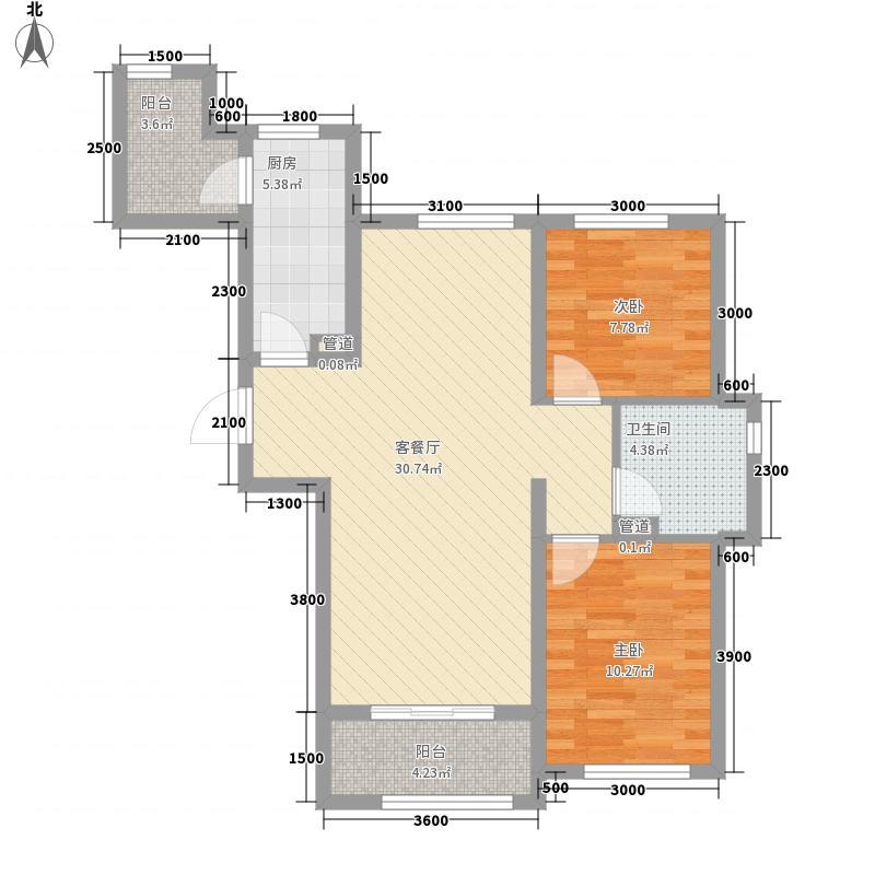 龙湾国际5.27㎡28G户型2室2厅1卫1厨